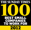 Sunday Times Best Small Companies to work for - 2012